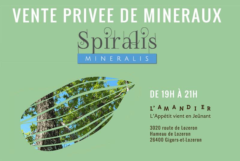 Spiralis Minéralis est présent tous les 15 jours au Centre de Jeûne « l'Amandier » à Lozeron